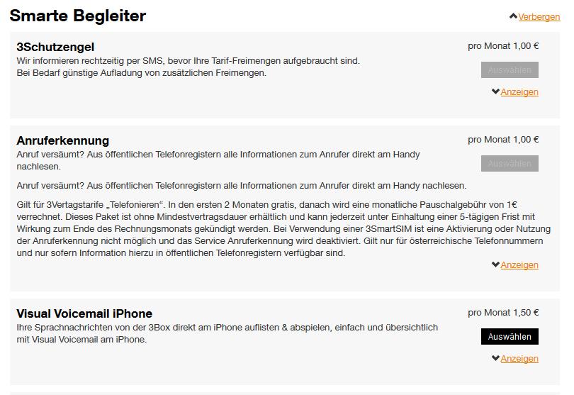 Kosten Für Anruferkennungund 3schutzengel Lte Forum österreich