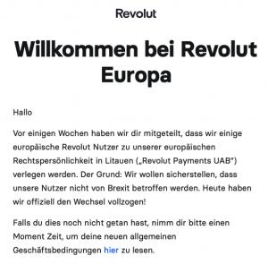 Revolut E-Mail