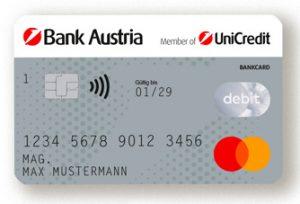 Bank Austria Debitkarte (Symbolfoto: Bank Austria)