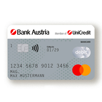 Bank Austria Debit Mastercard