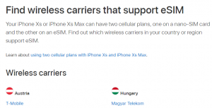 Apple eSIM Dual SIM in Österreich