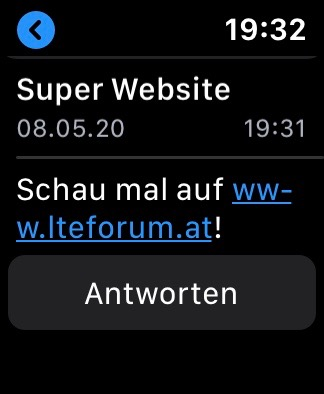 Apple Watch E-Mail URL