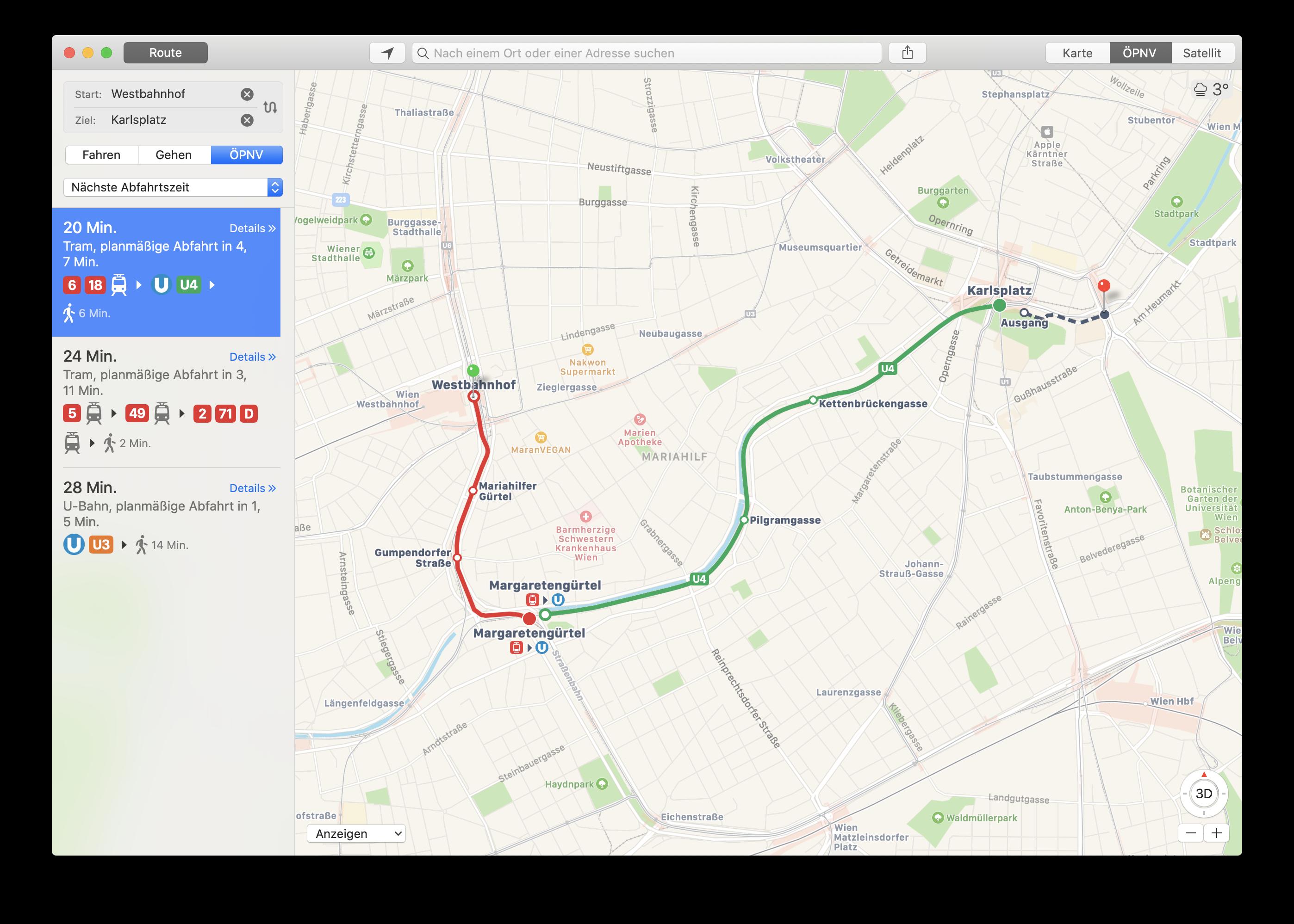 Apple Maps Wien
