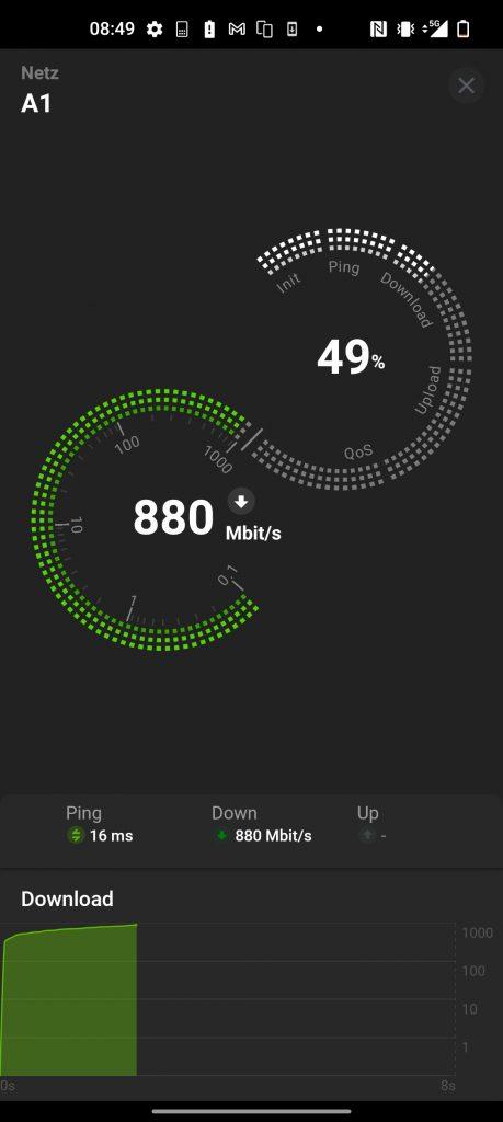 OnePlus 9 Pro 5G Speedtest